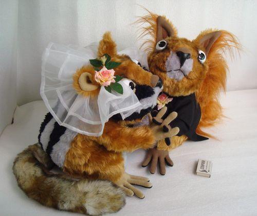 Свадебные игрушки - белки)) Игрушки по рисункам Игрушки на заказ по фото, рисункам. Шьем от 1 шт.