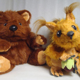 Белочка и мишка Игрушки по рисункам Игрушки на заказ по фото, рисункам. Шьем от 1 шт.
