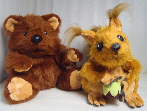 Белочка и мишка мягкая игрушка