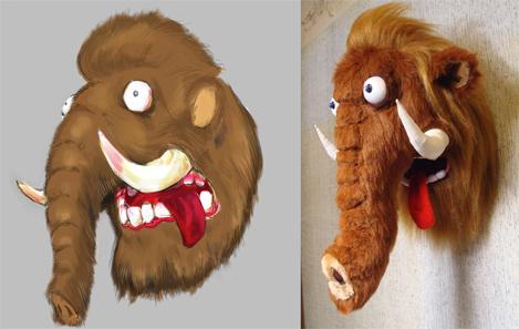Голова мамонта мягкая игрушка