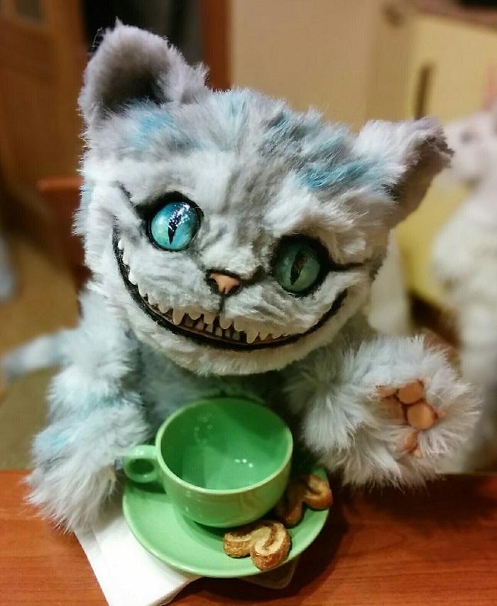 чеширский кот мягкая игрушка