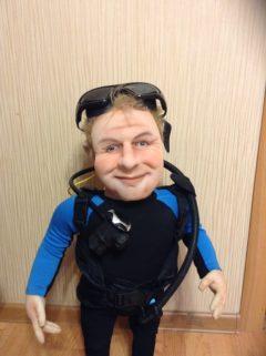 Кукла дайвера-аквалангиста Куклы Игрушки на заказ по фото, рисункам. Шьем от 1 шт.