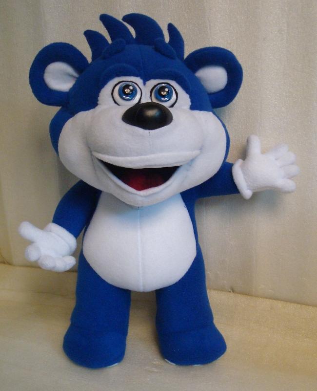 синий медведь мягкая игрушка