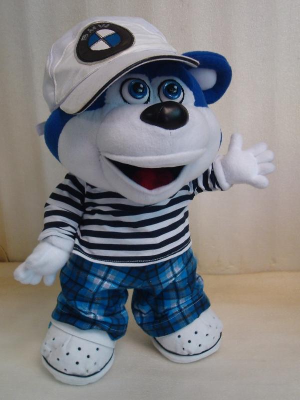 синий медведь игрушка