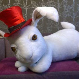 Кролик театрал Игрушки по рисункам Игрушки на заказ по фото, рисункам. Шьем от 1 шт.