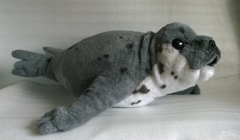 Тюлень игрушка мягкая