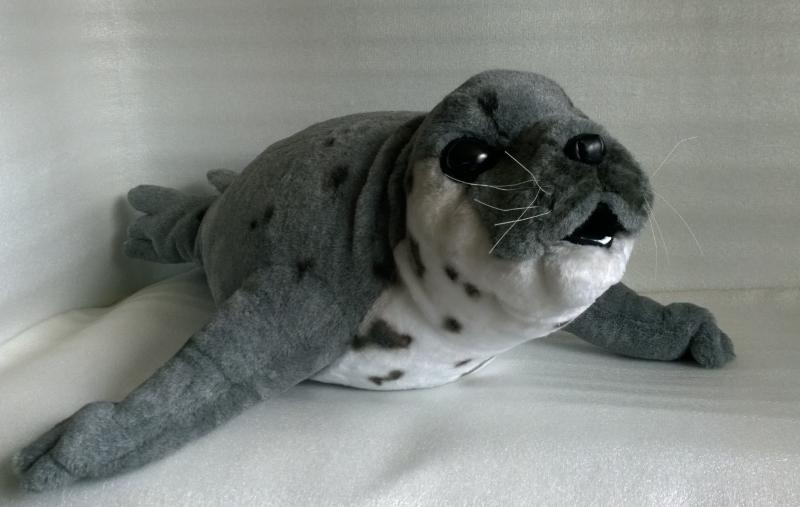 Тюлень мягкая игрушка
