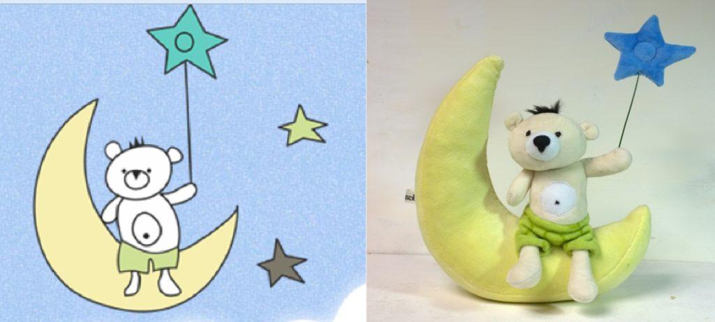 сонный мишка игрушка и рисунок