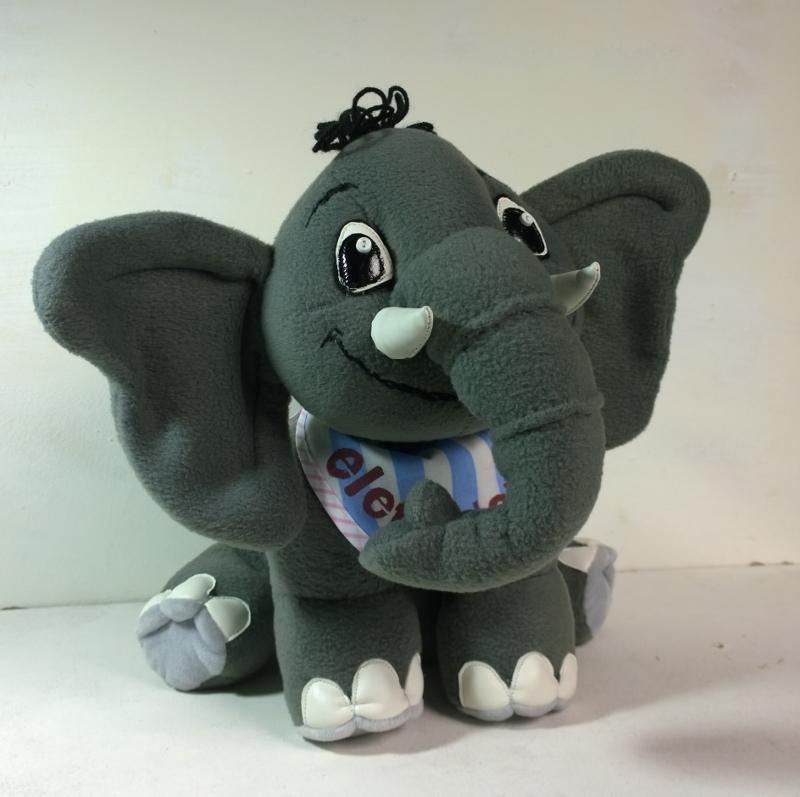 слон игрушка мягкая