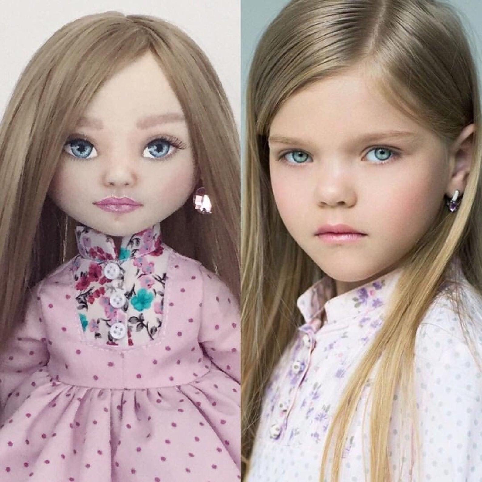 портретная кукла на заказ по фотографии этом солнечным