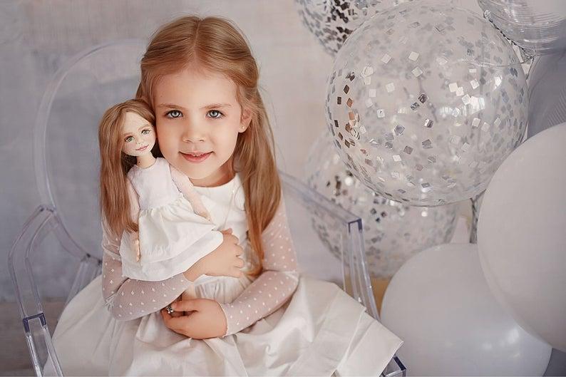 Текстильная кукла по фото с портретным сходством Игрушки на заказ по фото, рисункам. Шьем от 1 шт.
