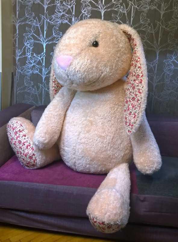 Большой красивый заяц Большие игрушки Игрушки на заказ по фото, рисункам. Шьем от 1 шт.